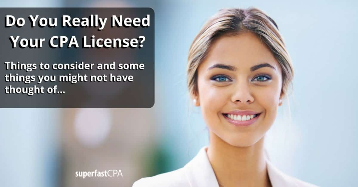 do you need your cpa license
