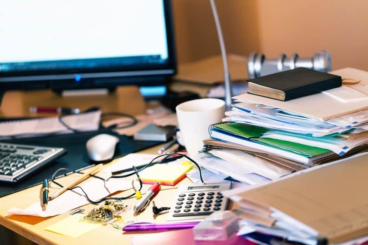 messy desk cpa study