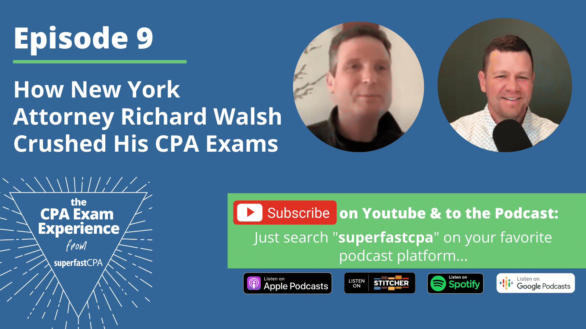 how richard walsh passed his cpa exams